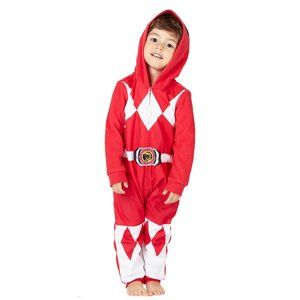 Power Ranger Red costume one piece hood zip up 2T